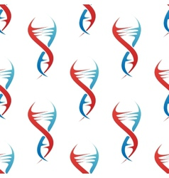 Stylized DNA spiral helix seamless pattern vector image