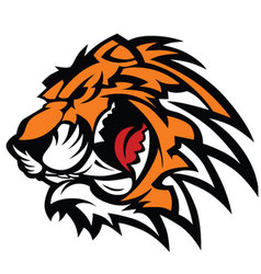 tiger mascot graphic vector image vector image
