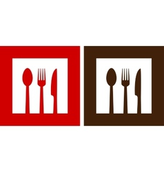 two restaurant signs vector image vector image