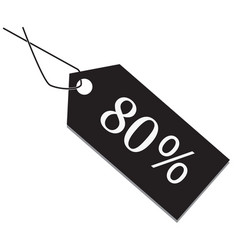 80 percent tag on white background vector image vector image