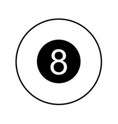 Eight ball isolated icon vector