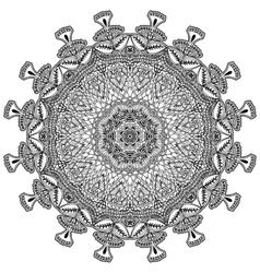 Ethnic decorative element for design Monochrome vector image