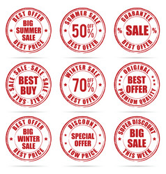 grunge rubber of sale in red color design vector image