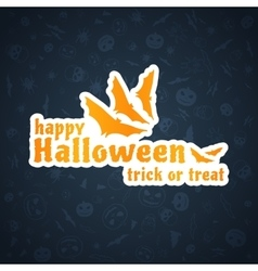 Halloween Background Abstract Blue Pattern vector image