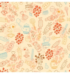 Love candy background vector image