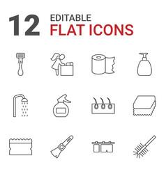 12 hygiene icons vector