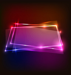Abstract background with colorful neon banners vector