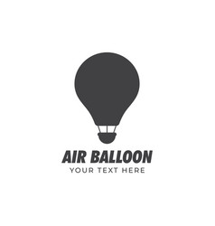 air balloon graphic design template isolated vector image
