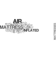 Air mattress text word cloud concept vector