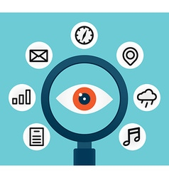 analysis and scrutiny different information vector image