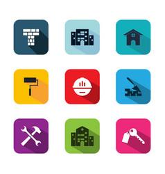app building icon vector image