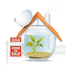 Aquarium home sold vector