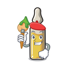 Artist ampoule character cartoon style vector