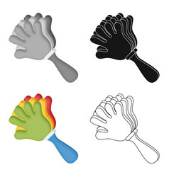 Attribute of the fan in the form of a handfans vector