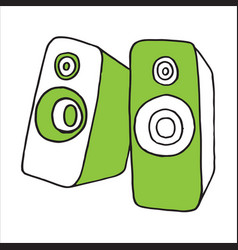 audio speaker doodle vector image