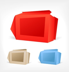 Background of polygonal origami boxes vector image