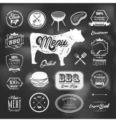 Beef specialty restaurant elements design vector image