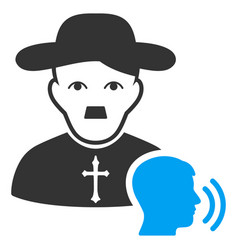 Believer confession flat icon vector