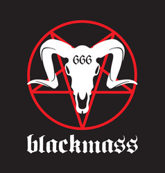 black mass design vector image