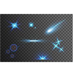Blue bright light effects vector