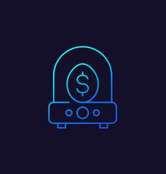business incubator icon linear design vector image