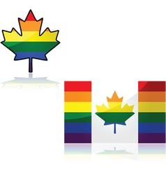 Canada rainbow vector image vector image