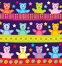 Cartoon bear background vector