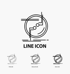Chain connect connection link wire icon in thin vector