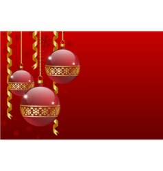 christmas balls card vector image