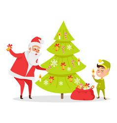 christmas tree decor web banner vector image