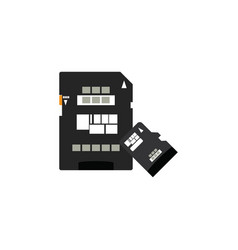 color image sd card icon memory card vector image