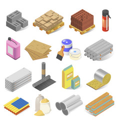 Construction and building industry materials vector