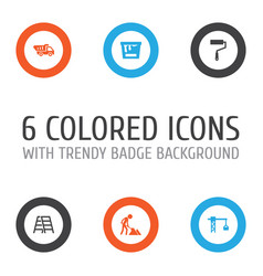 Construction icons set collection of lifting hook vector