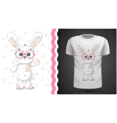 cute rabbit - idea for print t-shirt vector image
