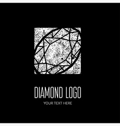 Diamond grunge logo 3 vector