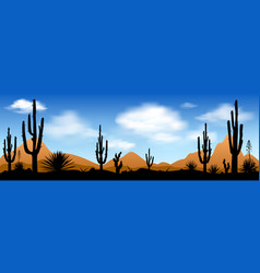 Early morning in the desert vector