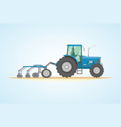 farm tractor icon heavy vector image