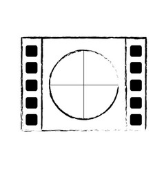 Figure film countdown to projection of movie vector