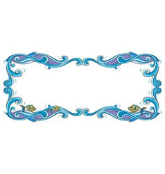 Fish Border Frame vector