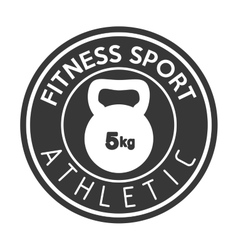 Fitness sport athletic kettlebell weight vector