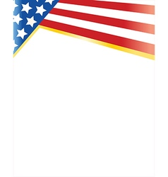 flag of the united states frame vector image