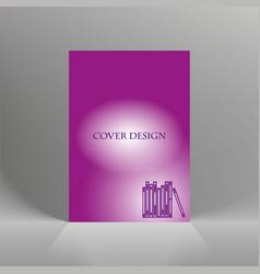 flyer cover business brochure design vector image vector image