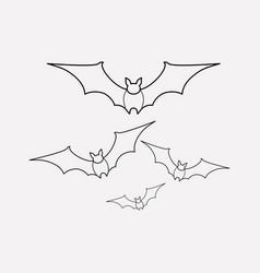 flying bats icon line element vector image