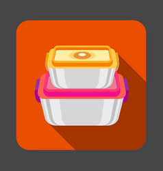 Food plastic box concept background cartoon style vector