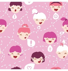 Girls talking seamless pattern background vector image