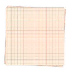 graph paper sheet isolated vector image