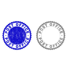 grunge post office textured watermarks vector image