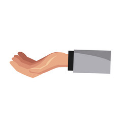 hand holding something vector image