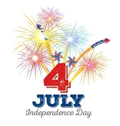 Happy fourth july independence day vector
