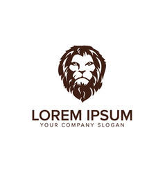 head lion logo design concept template fully vector image